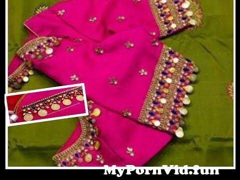 View Full Screen: most beautiful lakshmi kasu coin work design with normal stitching needle aari maggam work.jpg