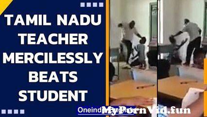 Tamil Nadu teacher beats and kicks student for not attending school | Oneindia News from tamil nadu fight night sexll Video Screenshot Preview