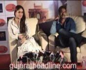 Ajay Devgan and Kareena Kapoor in Ahmedabad for promtoion of Singham Returns