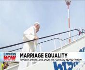 The pontiff said marriage is \