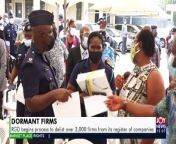 100,000 inactive firms expected to be listed by end of the year - The Market Place on JoyNews (4-10-21)<br/><br/>#TheMarketPlace<br/>#JoyBusiness<br/>#MyJoyOnline<br/><br/>https://www.myjoyonline.com/ghana-news/<br/><br/>Subscribe for more videos just like this: <br/>https://www.youtube.com/channel/ <br/><br/>Click to this for more news:<br/>https://www.myjoyonline.com/<br/>