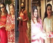 Mira Rajput, Padmini Kolhapure and others gathered at Anil Kapoor's residence on Sunday to celebrate Karwa Chauth.