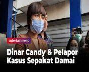 Dinar Candy mengatakan telah berdamai dengan Pengurus Besar Serikat Mahasiswa Muslimin Indonesia (PB Semmi), pelapor dirinya terkait aksi berbikini di jalan.<br/><br/>\