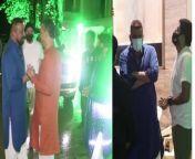 Bollywood Style Icon #SanjayDutt Aka Sanju Baba Snapped At A Politicians House For Ganesh Chaturthi <br/>#GaneshChaturthi2021